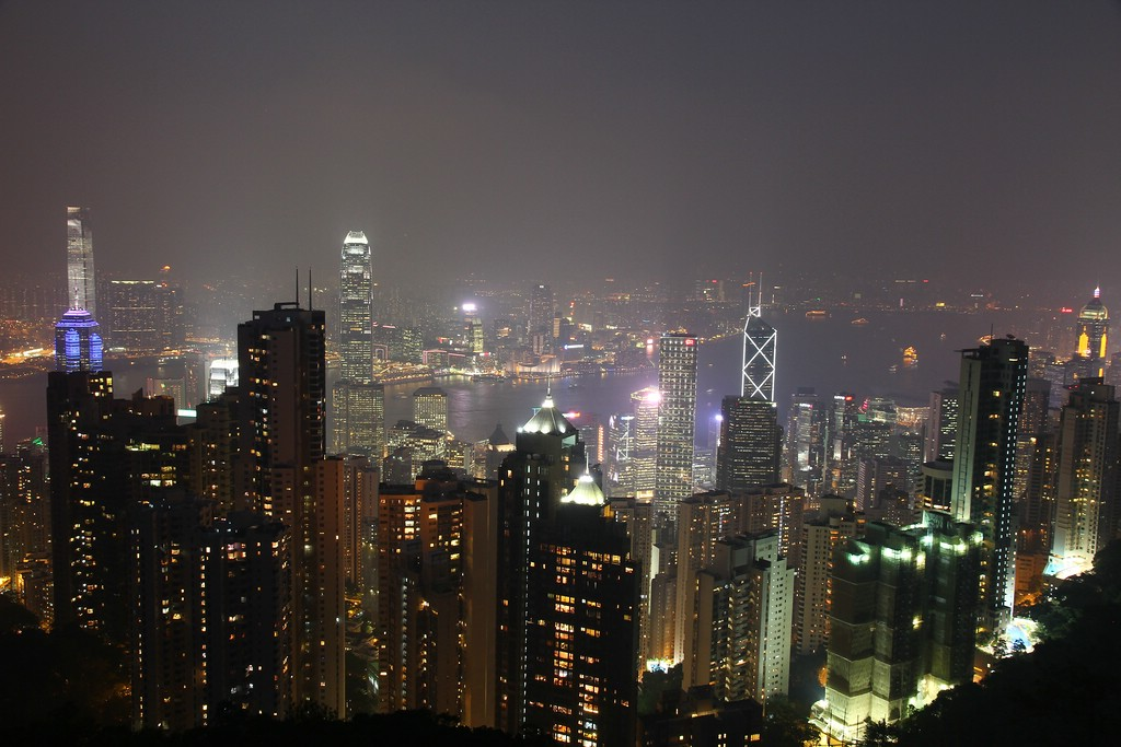 Skyline Hongkong Island and Kowloon